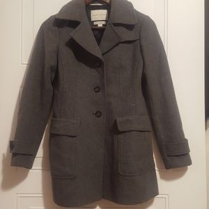 🎉Banana Republic|Wool Peacoat|Grey|Size XS